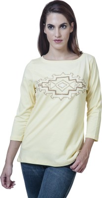 Rute Embroidered Women's Round Neck T-Shirt