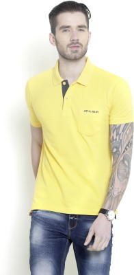 Metal Gear Solid Men's Polo Neck Yellow T-Shirt