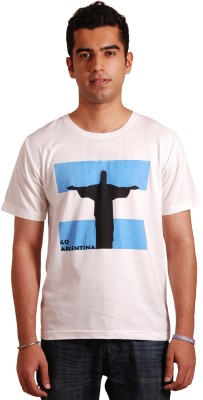Rigo Printed Men's Round Neck White T-Shirt