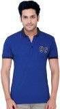 Goplay Solid Men's Polo Neck Blue T-Shir...