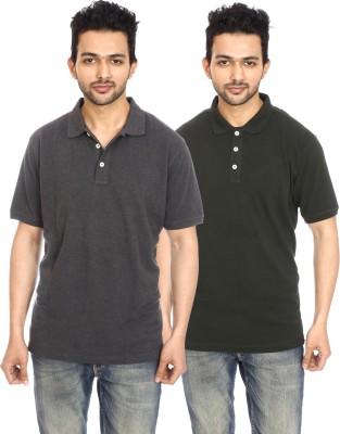 Avantaa Tees Solid Men's Polo Neck Multicolor T-Shirt