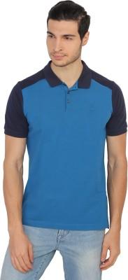 Calvin Klein Solid Men's Polo Blue T-Shirt