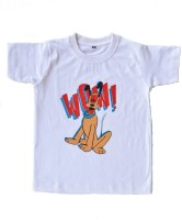 British Terminal Boys Animal Print T Shirt(White, Pack of 1)