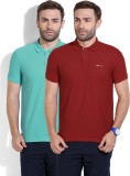 Newport Solid Men's Polo Neck Blue, Red ...