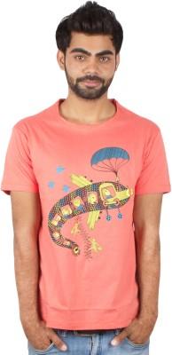 Pulpypapaya Printed Men's Round Neck T-Shirt