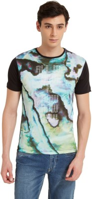 Flying Machine Printed Men's Round Neck Multicolor T-Shirt