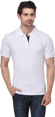 Happy Hippie Solid Men's Polo White T-Shirt