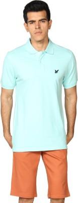 Provogue Solid Men's Polo Green T-Shirt