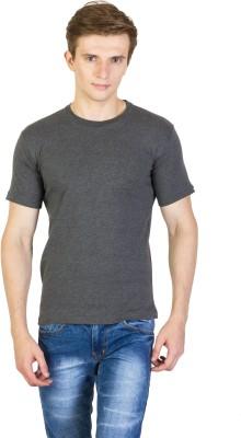 Rexler Solid Men's Round Neck Grey T-Shirt