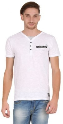 Hawk Knext Printed Men's V-neck White T-Shirt