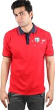 CKL Solid, Printed Men's Polo Neck Red T...