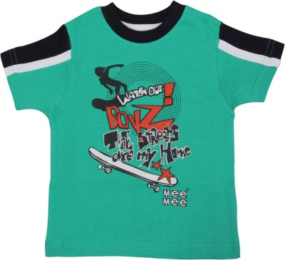 Mee Mee Solid Baby Boy's Round Neck Blue T-Shirt
