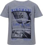 UFO Printed Men's Round Neck Grey T-Shir...
