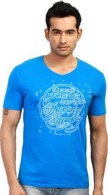 Design Classics Printed Men's V-neck T-Shirt