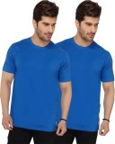 Live In Solid Men's Round Neck Blue T-Sh...