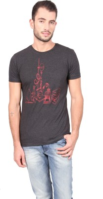 Geekly Printed Men,s Round Neck T-Shirt