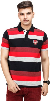 Yuvi Striped Men's Polo Multicolor T-Shirt