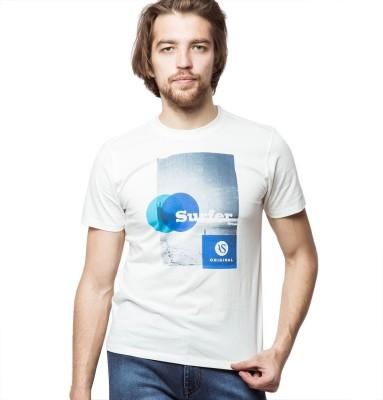 American Swan Printed Men's Round Neck T-Shirt