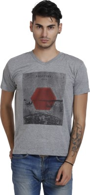 Black Catz Solid Men's V-neck T-Shirt