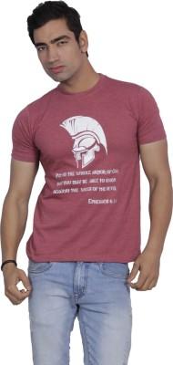 Sandbox Printed Men's Round Neck Reversible Pink T-Shirt