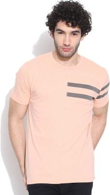 Cult Fiction Solid Men's Round Neck Orange T-Shirt