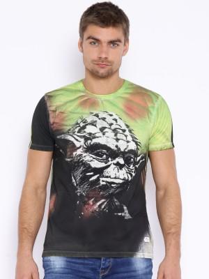 Kook N Keech Star Wars Printed Men's Round Neck Green T-Shirt