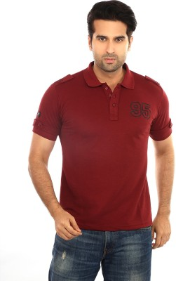 GOT IT Solid Men's Polo Maroon T-Shirt