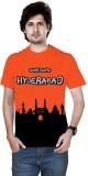 Sportee Solid Men's Round Neck Orange T-...