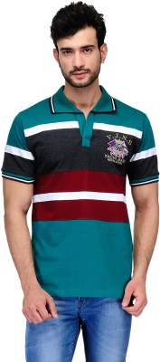 Ausy Solid Men's Polo Multicolor T-Shirt