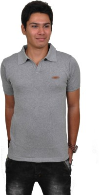 Blue 69 Solid Men's Polo Grey T-Shirt