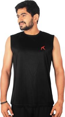 Repugn Solid Men,s Round Neck Reversible Black T-Shirt