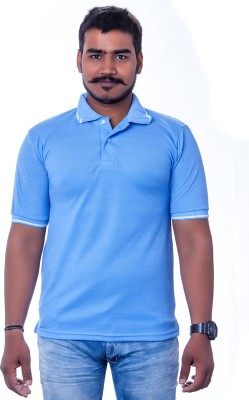 Colours99 Solid Men,s, Boy's Polo Neck Light Blue T-Shirt