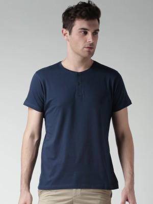 Mast & Harbour Solid Men's Henley T-Shirt