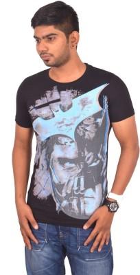 Rogue Printed Men's Round Neck Black T-Shirt