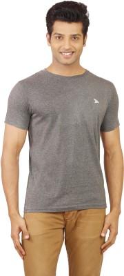 Wermin Solid Men's Round Neck Black T-Shirt