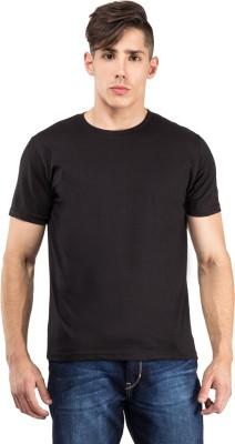 The Odd Toe Solid Men's Round Neck Black T-Shirt