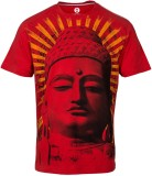 Huetrap Printed Men's Round Neck Red T-S...