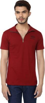 Bajo Solid Men's Fashion Neck Maroon T-Shirt