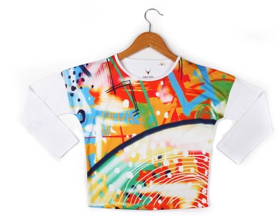Allen Solly Casual Full Sleeve Printed Girl's Multicolor Top