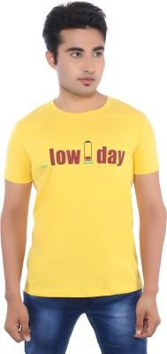 Pavitra Paapi Printed Men's Round Neck Yellow T-Shirt