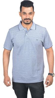Woodside Solid Men's Polo Grey T-Shirt