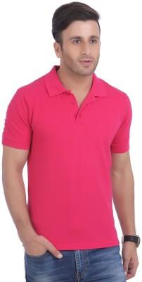 Jura Polo Solid Men's Polo Neck Pink T-Shirt