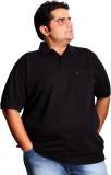XMEX Solid Men's Polo Neck Black T-Shirt