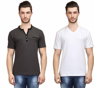 Habitude Men's Solid Casual Multicolor Shirt
