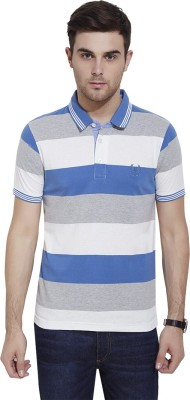 Urban Nomad By INMARK Striped Men's Polo Neck Multicolor T-Shirt