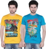 Zebu Printed Men's Round Neck Multicolor...