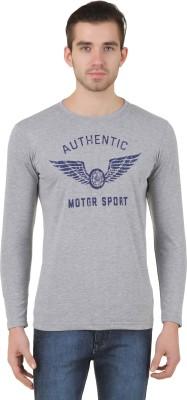Konners Graphic Print Men's Round Neck Grey T-Shirt