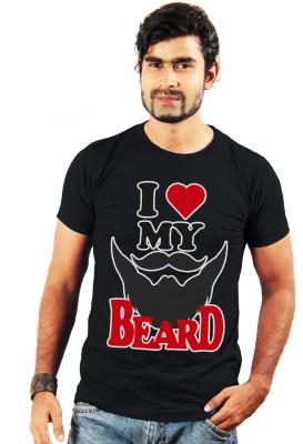 Shopping Monster Printed Men's Round Neck Black T-Shirt