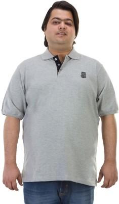 BIGBANANA Solid Men's Polo Grey T-Shirt