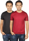 Quetzal Solid Men's Round Neck Black, Ma...